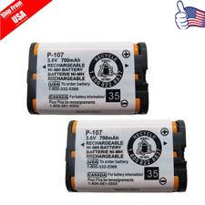 2pcs New Home Phone Battery Panasonic HHR-P107 HHR-P107A/1B  KX-3031 USA