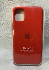 Original Apple iPhone 11 Silikon Case in Rot