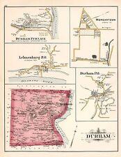1891 DURHAM, MORGANTOWN, LEHNENBURG, BUCKS COUNTY, PA, COPY PLAT ATLAS MAP