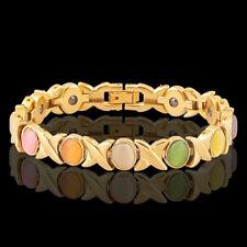 Ladies Magnetic Bracelet Beautiful Multicolour Gemstones Arthritis Pain Relief