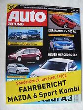 MAZDA 6 SPORT STATION WAGON 2.0 CD-relazione di guida-pressione speciale AUTO giornale fascicolo 19/2002