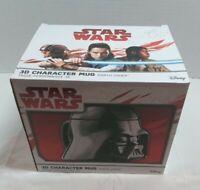 Star Wars Darth Vader 3D Character Ceramic Mug w Lid in Box Disney