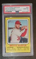 2018 Topps Heritage 1969 Collector Cards Bryce Harper TOUGH PSA 10 GEM MT New