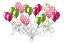 24 pc Lime Green Rose Daisy Latex Balloons Party Decoration Baby Shower Birthday