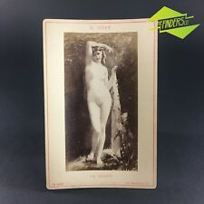c.1884 G.GUAY 'LA SOURCE' ADOLPHE BRAUN PARIS NUDE PHOTOGRAPHIC CABINET CARD