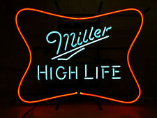 "Miller High Life Neon Sign Soft Cross ~ NEW in BOX & F/S ~ 25"" x 19"" Dated 2015"