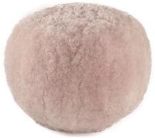 Exclusive Lambskin Footrest Ottoman Soft Pink Seat Cushion 56 x 40 cm