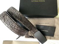 AUTHENTIC BOTTEGA VENETA 246 LUXURY CROCODILE Belt steel-grey Size 90/36 in*NEW*