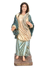 Mary of Nazareth fiberglass statue cm. 120 with glass eyes