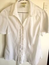 Millers White Ladies Work Blouse * Sz 16 * Excellent condition
