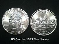 US State Quarter 1999 New Jersey  (P)