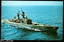 USS California CGN-36 postcard US Navy Nuclear-powered Guided Missile Cruiser