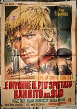 manifesto 4F film E DIVENNE IL PIU' SPIETATO BANDITO DEL SUD Peter Lee Lawrence
