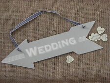 Wedding Hanging Arrow Plaque Sign Shabby Chic Venue Decoration East of India