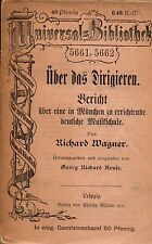 Uber Das Dirigieren Bericht - Richard Wagner Leipzig