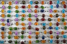 Neuf LOT DE 50pcs résine alloy Multicolore Femme charme bague bijoux