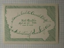 All Roads Leads To Council Bluffs Ia 1956 Philatelic Souvenir Ad Lbael