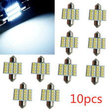 10PCS White 31mm 16 LED SMD Festoon Dome Car Bulb 3021 3022 DE3175 Light Lamp