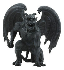 """Short Horned Gargoyle Statue Figurine Home Decor Grotesque 6.5"""" Tall Guardian"""