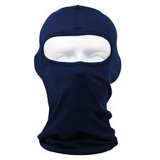 Solid Navy Blue Polyester Microfiber Balaclava Ninja Swat Face Mask Liner Biker