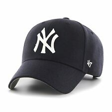 NY YANKEES  ADULT ADJUSTABLE 47 BRAND NAVY MVP HAT NEW & OFFICIALLY LICENSED