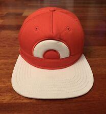 Pokémon Ash Ketchum Cosplay Snapback Hat Orange/Light Grey ORIGINAL