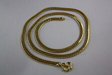 STAINLESS STEEL RHINESTONE GOLD CHAIN CURB NECKLACE 5 MM WIDE 60 LONG 389
