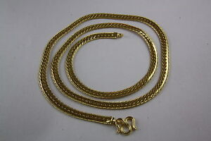 Stainless Steel Rhinestone Gold Chain Curb Necklace 0 3/16in Wide 2 3/8in Long