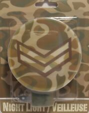 Night Light CAMOUFLAGE Military Soldier Stripes Rank Bedroom Hallway Bathroom