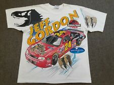 VTG 90s Jeff Gordon Jurassic Park Nascar Racing Double Sided Tee T Shirt Large L
