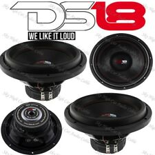 """2) DS18 SLC 12S 12"""" Car Subwoofer 12in 1000W Max 4 Ohm SVC 12nch Sub (2 Speaker)"""