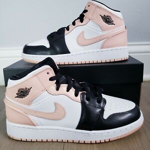 🔥 Nike Air Jordan 1 Mid Crimson Tint Toe GS 6Y (Size 7.5 Women) 554725-133 🔥