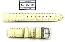 Citizen Watch Band  Strap White Leather 18MM Part # 59-K50103