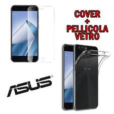 PELLICOLA VETRO TEMPERATO per ASUS ZENFONE 4 MAX ZC520KL +CUSTODIA COVER TPU GEL