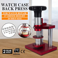 Crystal Bezel Press Case Back Closing Bench Stand Capping Watch Repair 20 Dies