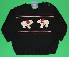6 9 12 Nwt Gymboree Snowboarder Navy Polar Bear Sweater Boys