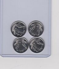 4x 2017 Royal Canada Mint 25 Cent Quarter Coin 125th Anniversary NHL Stanley Cup