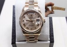 Rolex President Day Date 18K Rose Gold 118205 Pink Roman Dial Mint Condition