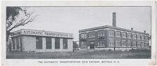 RARE Advertising Card Automatic Transportation Co Buffalo NY 1920 - Electric Car