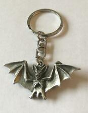 Bat Pewter Keyring key chain Made in UK Mammal Order of the Chiroptera nocturnal