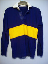 Top Boys Rugby Top Europa Vanguard Blue Yellow Stripe 100% Acrylic Size 34