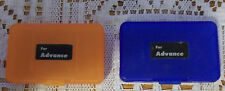 Game Boy Advance Blue and Orange Cartridge Protectors