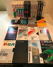 26 Used VHS VIDEO Tapes SONY Panasonic BASF Kodak FUJI & Other Brands T160 T120
