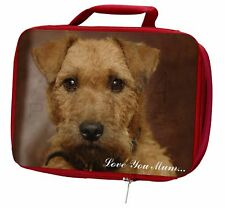 More details for lakeland terrier dog 'love you mum' insulated red school lunch box, ad-lt2lymlbr