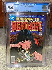 Doorway to Nightmare #1 CGC 9.4 DC 1978 1st Madame Xanadu! WP! M9 204 cm