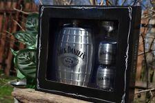 Jack Daniels Barrel Hip Flask - Shot Glass - Funnel - Set - Embossed - Old No. 7