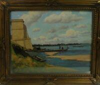 Henri Linquet/Linguet (1881 - 1914): Boote am Ufer, Öl, signiert