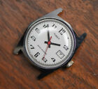VINTAGE NOS Timex Manual Wind Date Octagon Case Water Resistant White Dial Watch
