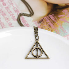 Fashion Movie Harry Potter Deathly Hallows Metal Silver Gift Pendant Necklace