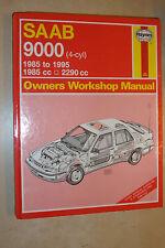 SAAB 9000 HAYNES WORKSHOP MANUAL 2L 2.3L Inc TURBO 16 CDi & AUTO 1985-1995+ C-N+